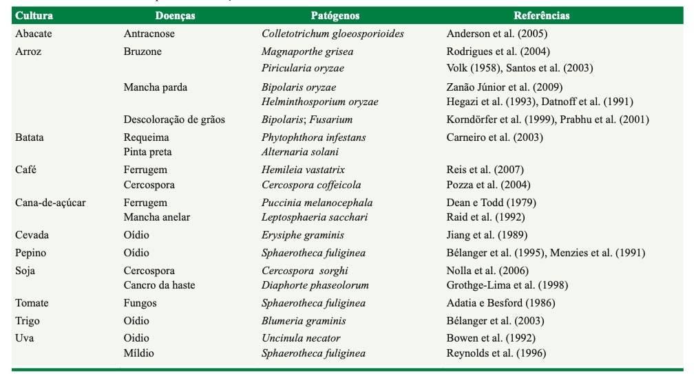 efeito do silício no controle de doenças de plantas